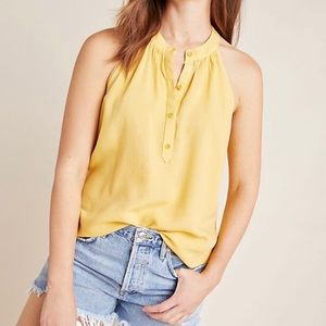 NWT Cloth & Stone Henley Halter tank top